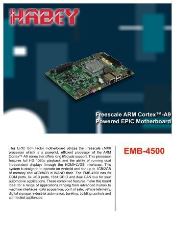 EMB-4500 Datasheet - Habey USA