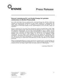 Press Release - Enovos