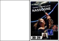 programme 2009 2010 jp new - Centre Culturel Local de Nassogne