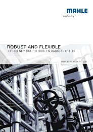 Duplex filters - MAHLE Industry - Filtration