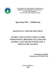 Ing. Ioana Piro (Moldovan) - USAMV Cluj-Napoca