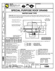 Technical Data For Floor Drains Jay R Smith Mfg Co