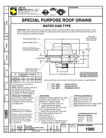 Submittal 1080 Roof Drain   Jay R. Smith MFG Co.