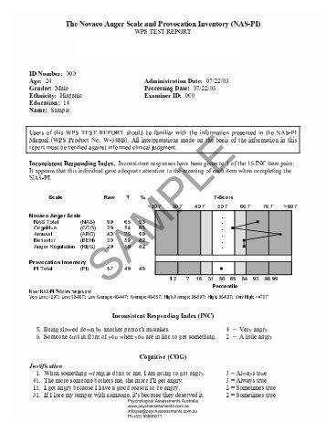 BBRS-2 Sample Report - Psychological Assessments Australia