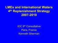 LMEs and International Waters 4th Replenishment Strategy 2007 ...