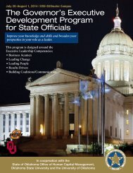 The Governor's Executive Development Program for State Officials