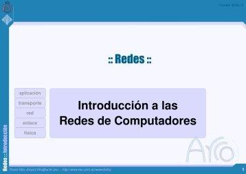 Introducción a las Redes de Computadores :: Redes ::