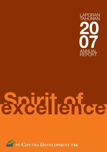 LAPORAN TAHUNAN ANNUAL REPORT - Ciputra Development
