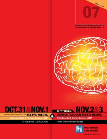 to download the 2007 Annual Meeting Brochure - Neurocritical Care ...