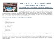 The top 10 list of luxury villas in - Dominican Republic Real Estate