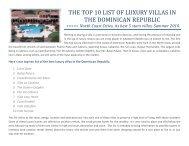 The top 10 list of luxury villas in - Dominican Republic Real Estate