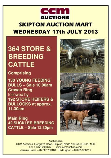364 STORE & BREEDING CATTLE - Auction Mart