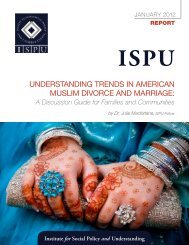 Understanding trends in american mUslim divorce and marriage: