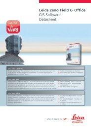 Leica Zeno Field & Office GIS Software Datasheet