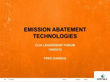 Emission abatement technologies