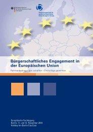 Bürgerschaftliches Engagement in der Europäischen Union