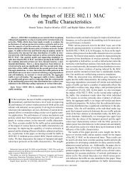 On the impact of IEEE 802.11 mac on traffic characteristics ...