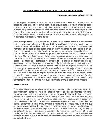 EL HORMIGÓN Y LOS PAVIMENTOS DE AEROPUERTOS ... - ICPA
