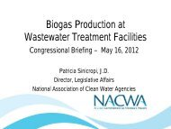 Biogas Production at Wastewater Treatment Facilities - American ...