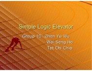 Simple Logic Elevator - Mechatronics