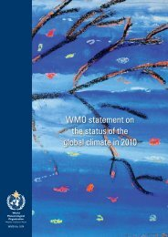 WMO statement on the status of the global climate in 2010