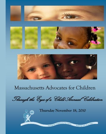 Copy of PROGRAM BOOK - Massachusetts Advocates for Children