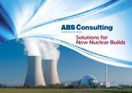 Solutions for New Nuclear Builds - ABS Consulting