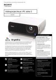 Télécharger la brochure commerciale Sony VPL EX120 - Lampe ...