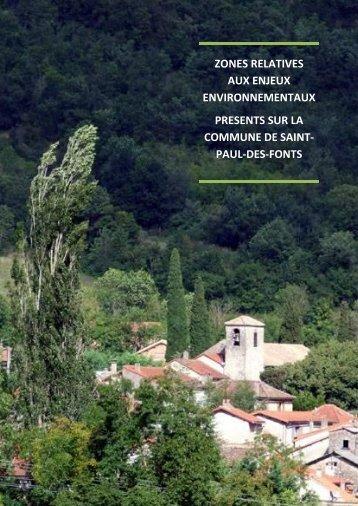 zones relatives aux enjeux environnementaux presents sur la ...