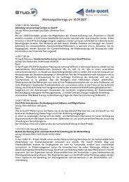 Inhaltliche Beschreibung der Workshops und Vorträge in ... - Stud.IP