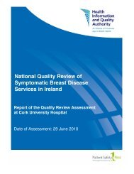 Report of the Quality Review Assessment at Cork University ... - hiqa.ie