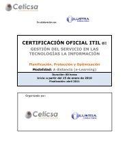 CERTIFICACIÓN OFICIAL ITIL ®: GESTIÓN DEL SERVICIO EN ... - ATI