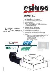 EsiMotXL_Rundtisch_D.. - esitron-electronic GmbH