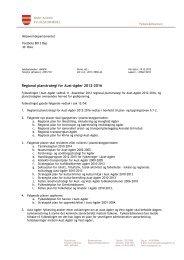 Oversendelsesbrev til MD - Aust-Agder fylkeskommune