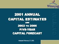 2001 Adopted Capital Budget - City of Winnipeg