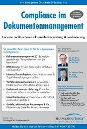 Compliance im Dokumentenmanagement - Management Circle AG