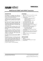 WM8580A, Rev 4.8 - Wolfson Microelectronics plc