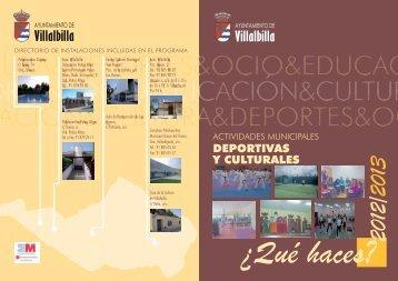 Actividades ADULTOS 2012/2013 - Ayuntamiento Villalbilla