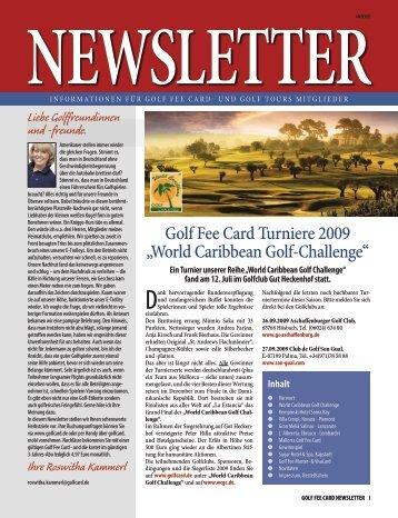 Newsletter - Golf Fee Card