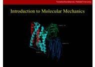 Introduction to Molecular Mechanics - Mahidol University