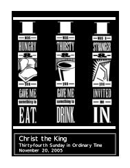 Christ the King - The Parish Family of Our Lady of Lourdes