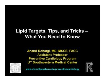 Lipid Targets, Tips, and Tricks – What You Need to Know