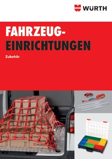 Fahrzeugeinrichtung Zubehör - Würth