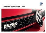 Der Golf GTI Edition - Auto Sauter AG