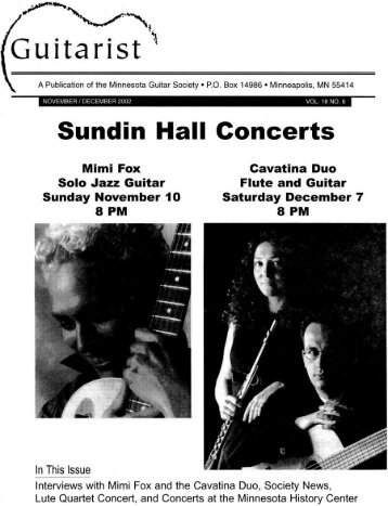 "Guitarist "" - Minnesota Guitar Society"