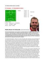 aktuelle Spielberichte - FC Schüpfen