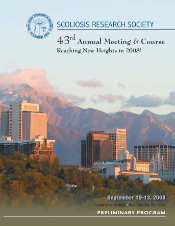 43rd Annual Meeting & Course - Scoliosis Research Society