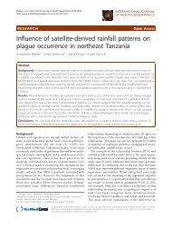 Influence of satellite-derived rainfall patterns on plague occurrence ...