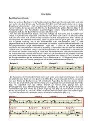 Peter Gülke Bach/Beethoven/Krenek Nicht nur, weil man Beethoven ...