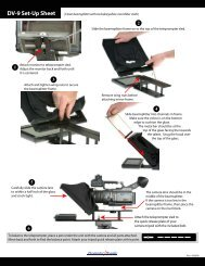 DV-9 Set-Up Sheet - PrompterPeople